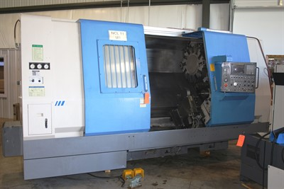 HYUNDAI HIT 460 CNC HEAVY DUTY TURNING CENTER W/ HYD. STEADY REST