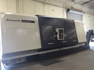 VANGUARD SSCK 80/3000 CNC UNIVERSAL TURNING CENTER W/ STEADY REST