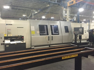 OKUMA LB 45III-C/3000 CNC UNIVERSAL LATHE WITH STEADY REST